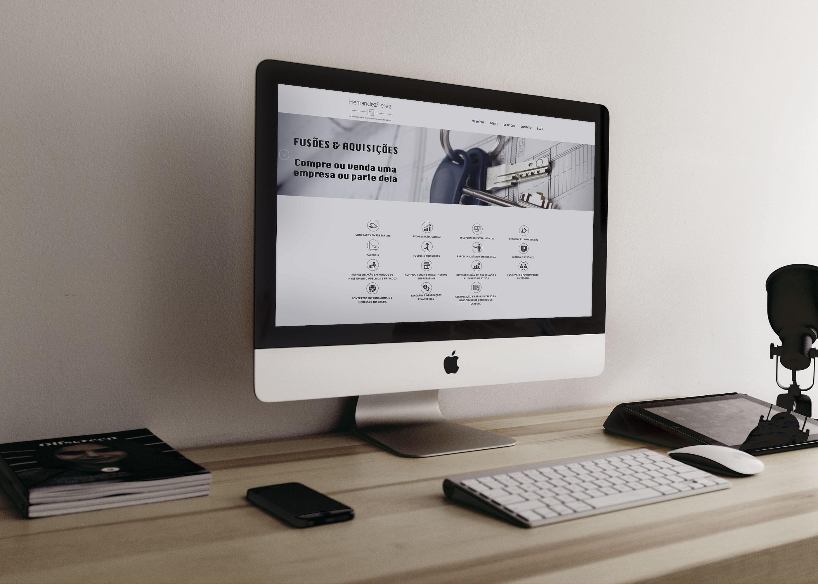 Web site - Hernandez Perez Advocacia e consultoria Empresarial