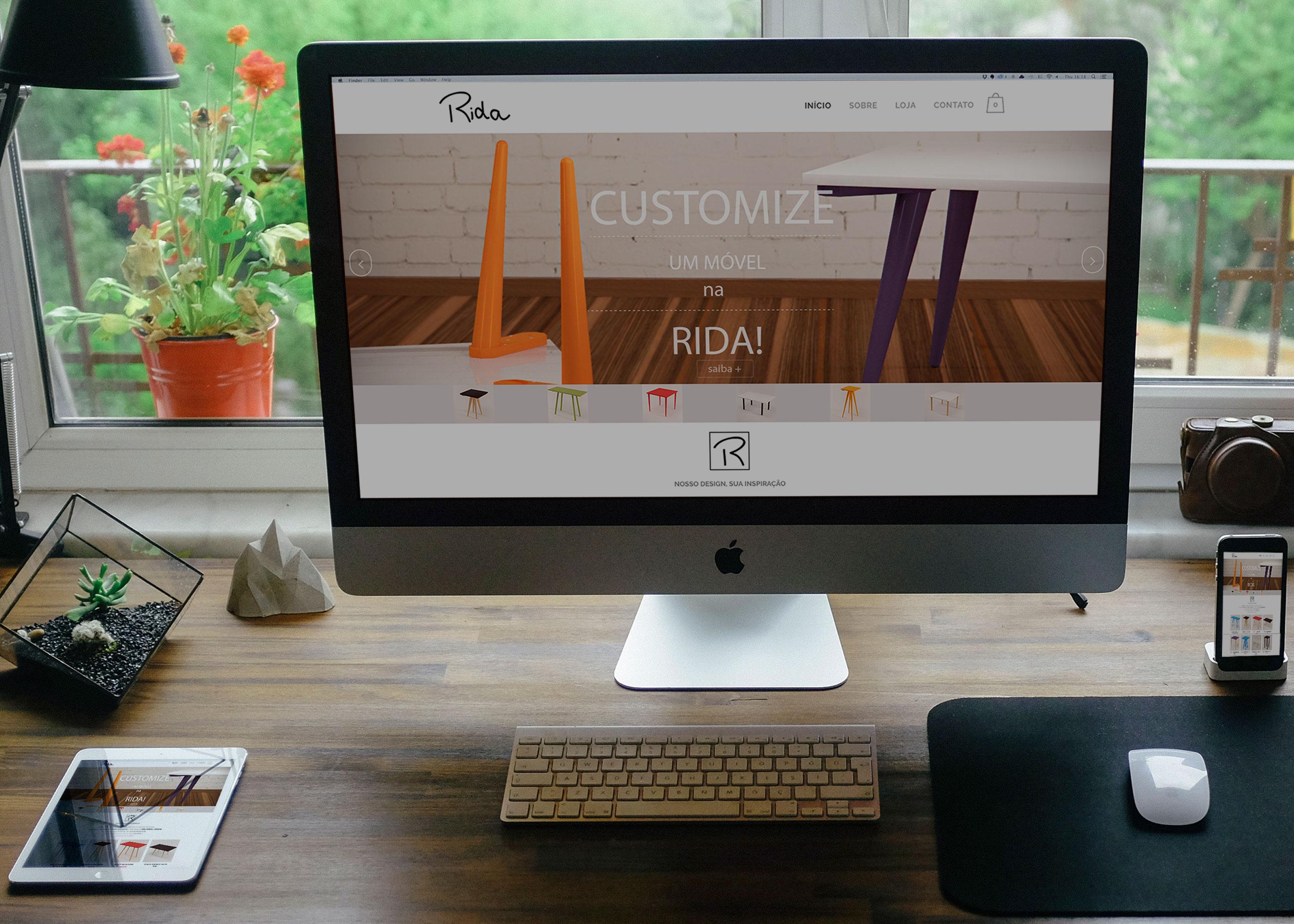 Web site - Empresa de móveis customizados Rida