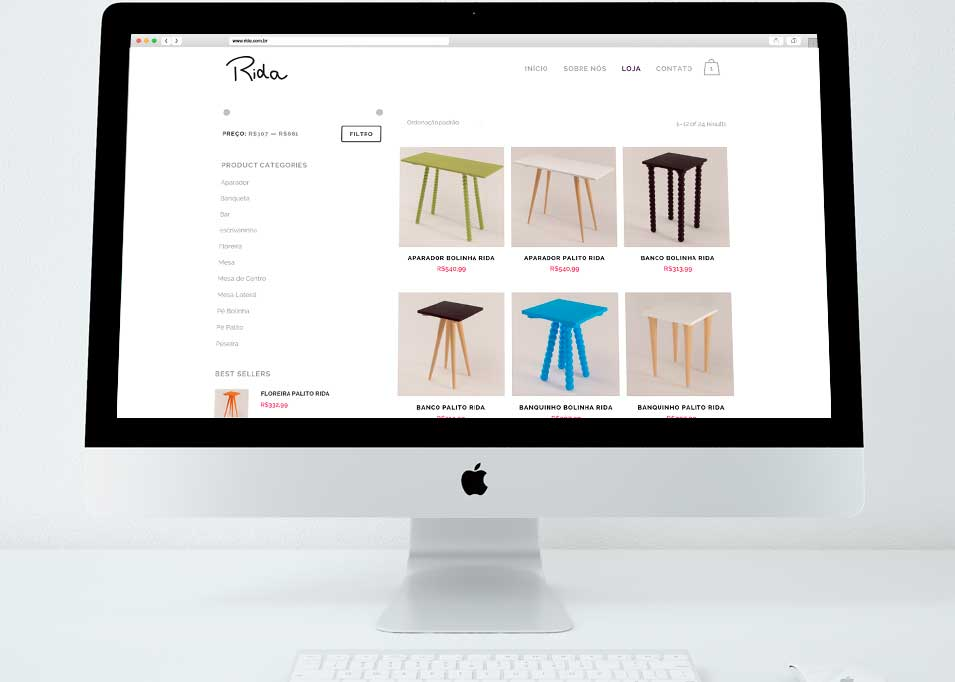 Loja virtual (e-commerce) Rida criado na Design a mais