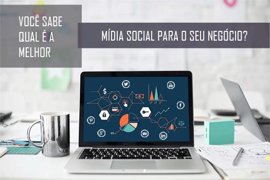 você sabe qual é a melhor mídia social para o seu negócio? Saiba mais no Blog da Design a mais!