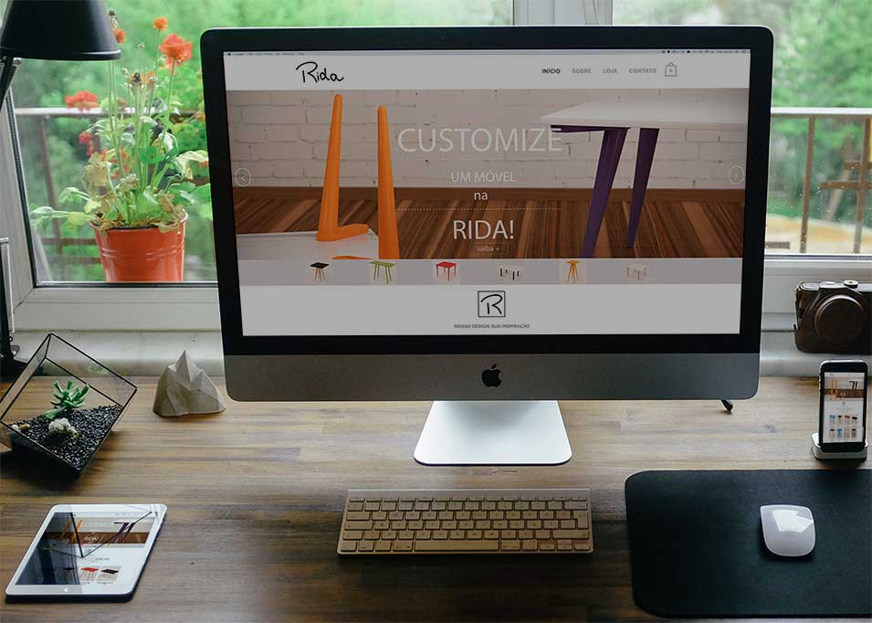 Loja virtual Rida criada pela Design a mais