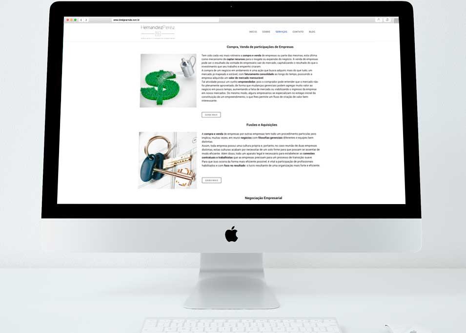 site-escritorio-de-advocacia-pagina-inicial criado pela Design a mais
